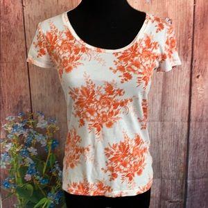 ANN TAYLOR S/S Floral T-Shirt/Top
